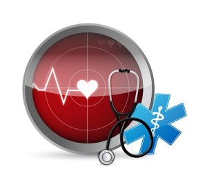 Lifeline Stethoscope Radar Illustration Design